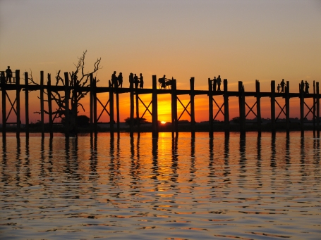 Birmanie_sunset 2U Bein bridge