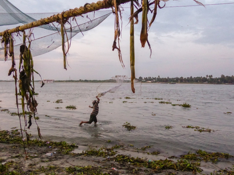 Inde_Kerala_man fishing